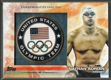 AWESOME 2012 TOPPS OLYMPIC NATHAN ADRIAN USOC PIN CARD ~ USA SWIMMING GREAT