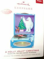"NIB 2019 Hallmark Keepsake ""A Holly Jolly Xmas"" Xmas Tree Ornament/Rudolph$24.99"
