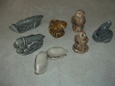 Vintage wade lot of 8 Owl Lamb Bird Seal Cannon Whale Red Rose Tea Collectible !