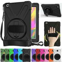 Heavy Duty Rotating Stand Case Cover For Samsung Galaxy Tab A 8.0 T380 T387 T290
