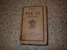 1878.Histoire de Pie IX.M.de Bussy