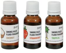 3x 20ml Makes 15L Smoke Haze Fog Machine Fragrance Fluid Coconut Tropical Berry