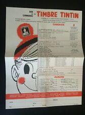 Bon de commande Timbre Tintin 1961