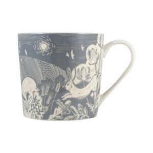 English Tableware Co. Artisan Mug, Hare Woodcut British Countryside Drawings
