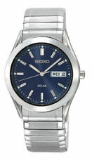 Seiko Men's SNE057 Solar Blue Dial Watch NEW WITH TAGS EXPRESS POST
