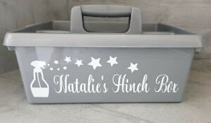Mrs Hinch Personalised Large Sticker Label/Decal FOR Cleaning Caddy Box