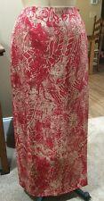 Nygard 100% Silk Ladies Wrap Skirt* Red/Gold *NWT* Size 14