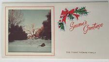 1950's Frank Thomas Christmas Card Disney Animator