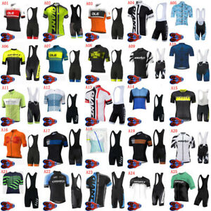2021 Mens Team Cycling Jersey Bib Shorts Set Summer Short Sleeve Mtb Bike Outfit