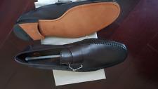 NIB $825 SANTONI Handmade Luxury Calf Leather Penny Loafers US 9.5-10 M / UK 9
