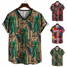 T-shirts coton à motif Floral pour homme