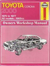 Toyota Corona 2000 Haynes Owners Workshop Manual 1975-1977