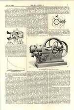 MOTORE a Olio 1894 SAMUELSON Griffin piani di sezione trasversale elevazione