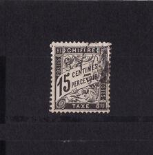 timbre France TAXE   Duval   15c  noir     num: 16   oblitéré