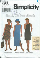 S 7958 sewing pattern Sheath DRESS Trendy HAT Tote BAG vintage retro Chic 6,8,10
