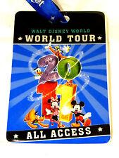 Disney park christmas ornament 2011 access tour pass ticket WDW ceramic 4 parks