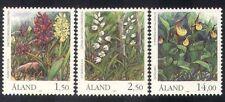Aland 1989 Orchids/Flowers/Nature/Endangered Plants/Conservation 3v (n39128)