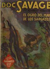 RARE EO ESPAGNOLE + KENNETH ROBESON  DOC SAVAGE EL OGRO DEL MAR DE LOS SARGAZOS