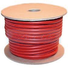 RED 10M METRE HI-FLEX PVC BATTERY/STARTER CABLE 25MM 170 AMP 322/0.3 STRANDING