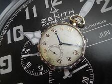 ZENITH 14k /0.585 SOLID GOLD ENAMEL CASE ANTIQUE  POCKET WATCH FROM  1920S