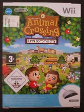 Nintendo Wii Animal Crossing Let's Go to the City+Speak FACTORY SEALED ITA