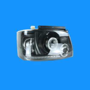 Front Left and Right Hand LED Black Angel-Eye head lights For Toyota Hiace 2005-