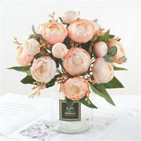 Bouquets De Pétales De Fleurs De Camélia En Soie Artificielle Pour La