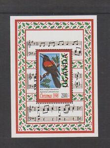 Uganda - 1998, Xmas, Birds, Winter Wren sheet - MNH - SG MS2012a