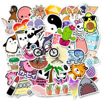 50Pcs Cute Cartoons Stickers DIY Laptop Luggage Guitar Bicycle Skateboard Dec I2