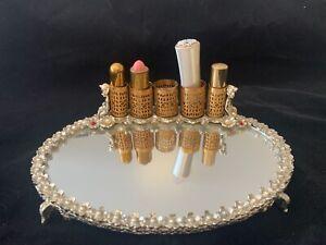 Vintage Lipstick Mirror Cherubs Lipsticks Tangee, Bishop, Avon, Helen Neushaefer