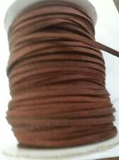 BROWN 10 yard faux Leather Flat Suede Cord 3 mm Tape/ trim/Craft US SHIPPER