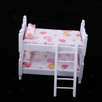 MagiDeal 1/12 Bunk Bed Dollhouse Miniature Bed Mini Bunk Beds for Dolls