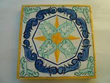 Decoro in argilla,cotto fatto a mano,piastrella tipo ceramica vietri cm. 20x20
