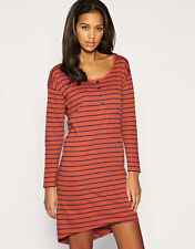 Asymmetric Hem Striped Casual Regular Size Dresses for Women