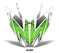 Sled Hood Graphics Kit Decal Wrap For Arctic Cat Pro Climb Cross 12-16 SLASH GRN