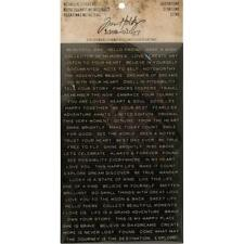 Tim Holtz Idea-ology Metallic Stickers - Quotations Black & White with Gold