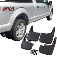 Fits Ford F-150 Mud Flaps 15-20 Mud Guards Splash Flares 4 Piece Front & Rear