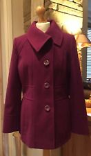 Debenhams New Ladies Plum Colour Size 14 Coat RRP £50 ❗️PRICE DROP