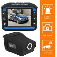 Neu HD 2 in 1 Auto DVR Autokamera Radarwarner Dashcam Recorder Video Nachtsicht