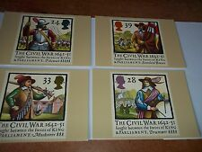 The Civil War 1642 16 June 1992 PHQ 144 set Royal Mail Stamp Card Series MINT