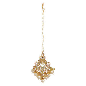 Indian Bollywood Wedding Gold Plated Maang Tikka Forehead Jewelry For Womens