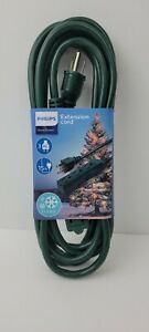 Philips 15ft - 3 Outlet Grounded Extension Cord Outdoor Use, Green BRAND NEW