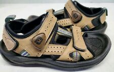 FootJoy Fj Sz 8 M Leather Sport Sandals Golf Cleats Soft Spikes Brown 48786