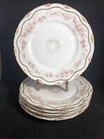 """Theodore Haviland Limoges France Lunch Plates 8 1/2"""" Diameter JE Caldwell PA 11K"""