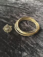 Ring Brass Bronze-Tone Bracelet Set Steampunk Goth Antique-Look Compass Rose