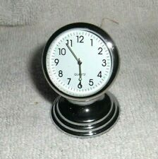 Vtg STYLE CHEVY FORD VW SPLIT WINDOW Truck Car White DASH MAGNET CLOCK 50s 60s