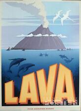 LAVA - VERY RARE PIXAR SHORT FILM ORIGINAL MOVIE POSTER - DOLPHIN / VOLCANO