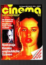 CINEMA 8/1982 Heft 51 Romy Schneider + Poster, Nastassjia Kinski Rollings Stones