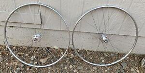Vintage 1971 Campagnolo Record Hi Flange Mavic Monthlery 700c Tubular wheel set