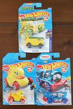 Hot Wheels - Lot of 3 - Thomas the Train - TMNT Party Wagon - Rubber DUCK - E49